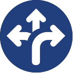 diverging arrows icon for corporate wellness ft. worth tx